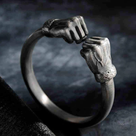 Fist of Power Sterling Silver Bracelet - Gthic.com - Blog