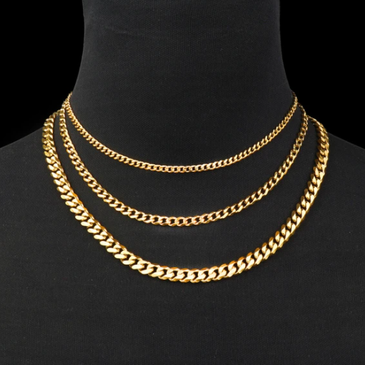Gold Cuban Link Stainless Steel Chain Necklace - Gthic.com - Blog