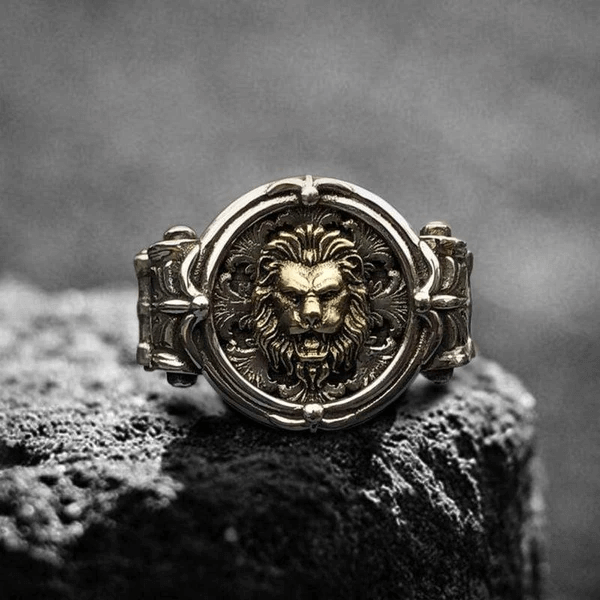 LION STERLING SILVER PINKY RING - Gthic.com - Blog