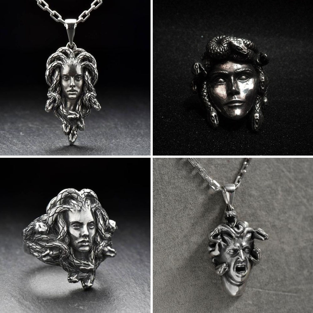 Medusa Pendant and Ring - Gthic.com - Blog