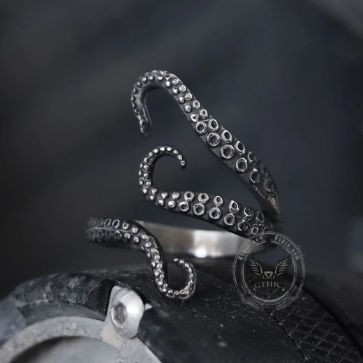 Octopus Arms Stainless Steel Ring - Gthic.com - Blog