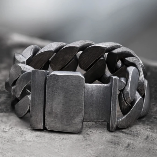 Punk Cuban Chain Stainless Steel Bracelet - Gthic.com - Blog