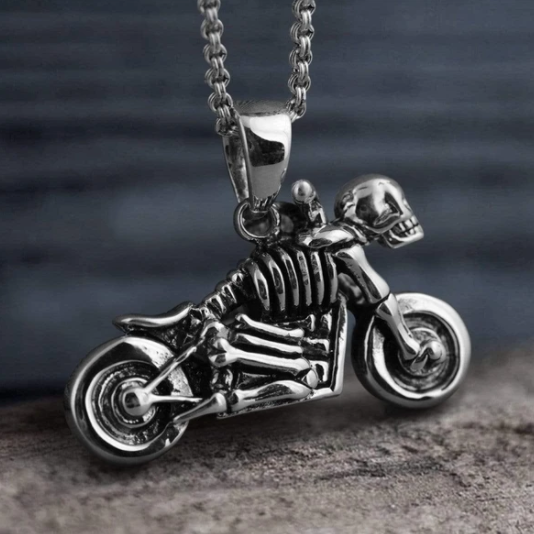 STERLING SILVER BIKER NECKLACE - Gthic.com - Blog