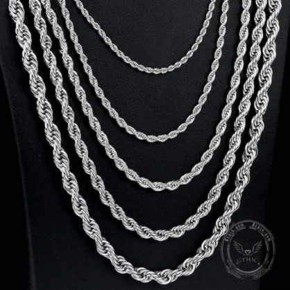 Stainless Steel Rope Chain - Gthic.com - Blog