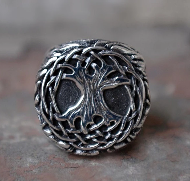 Sterling Silver Tree of Life Ring - Gthic.com