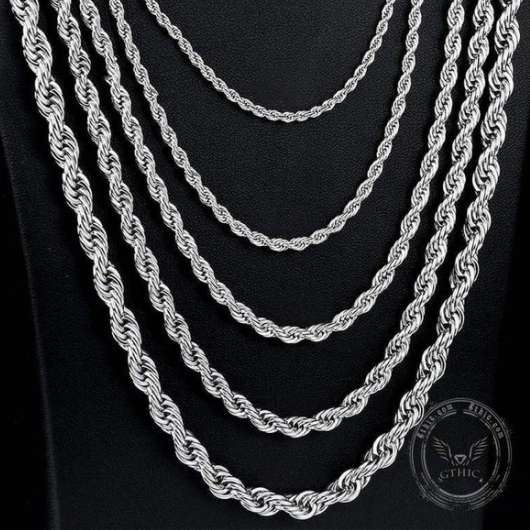 Twist Stainless Steel Rope Chain - Gthic.com - Blog