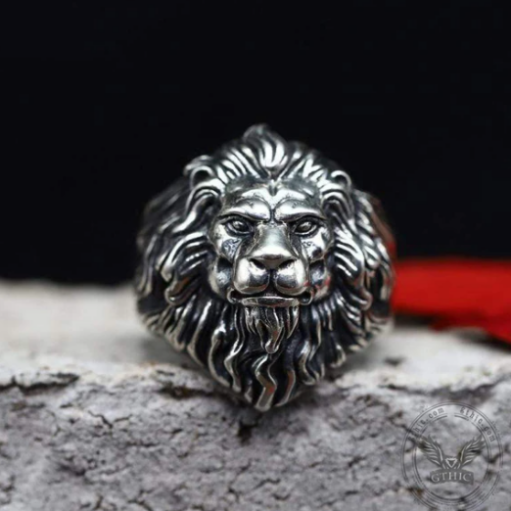 Vintage Lion Head Sterling Silver Animal Ring - Gthic.com - Blog