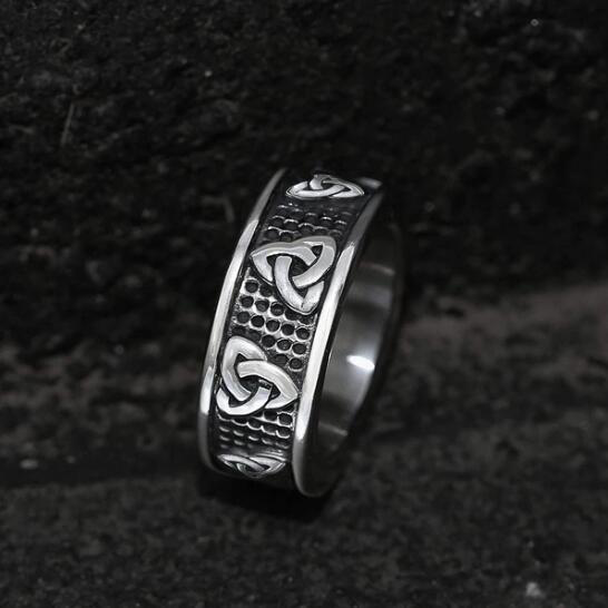 Warrior Triquetra Stainless Steel Viking Ring - Gthic.com - Blog