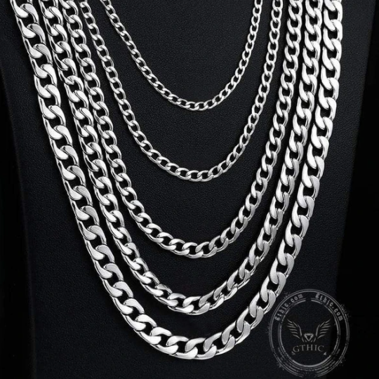 Water Ripple Stainless Steel Chain Necklace - Gthic.com - Blog