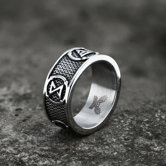Witchers Elements Signs Stainless Steel Ring - Gthic.com - Blog