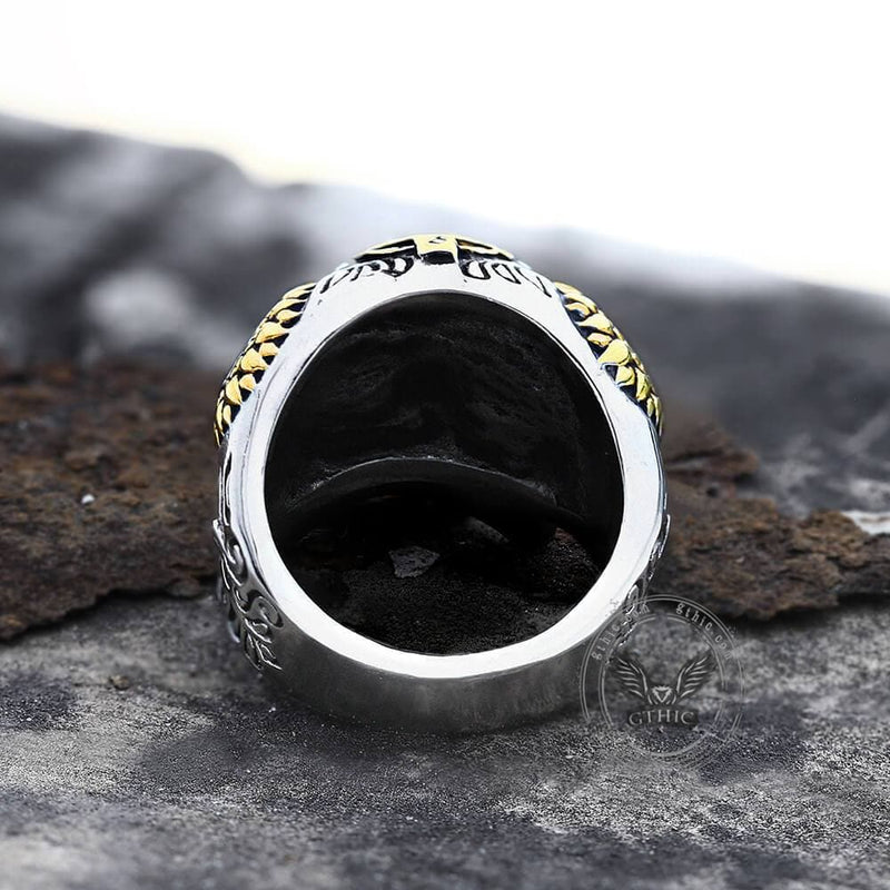 Kapala Stainless Steel Sugar Skull Ring | Gthic.com