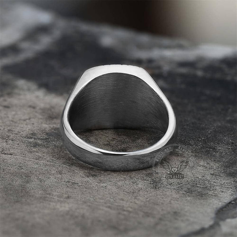 Minimalist Polaris CZ Stainless Steel Ring | Gthic.com