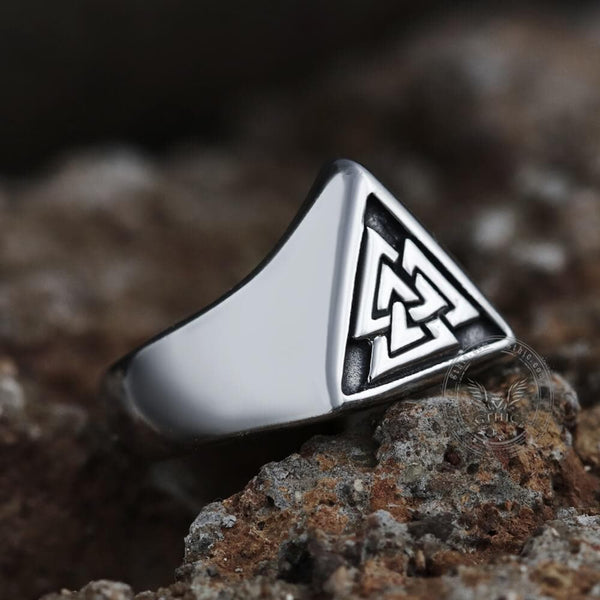 Valknut Stainless Steel Viking Ring