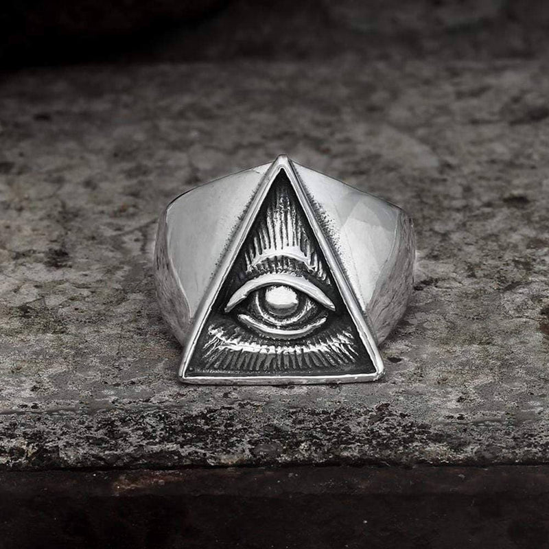 All-seeing Eye Stainless Steel Masonic Ring