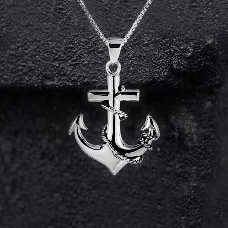 Anchor Stainless Steel Marine Pendant