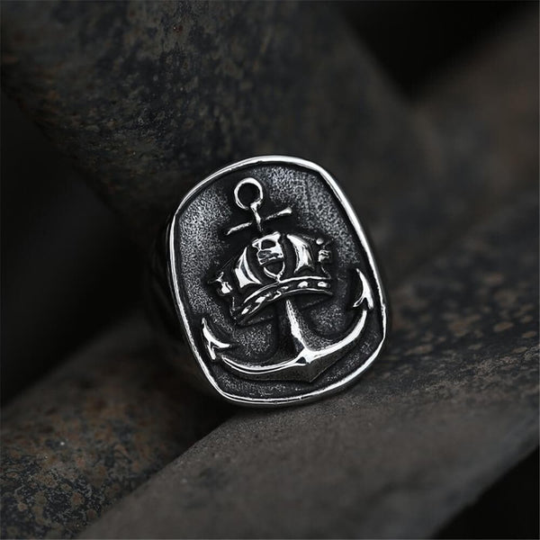 Anchor Stainless Steel Marine Punk Ring