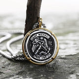 Archangel Saint Michael Stainless Steel Coin Pendant