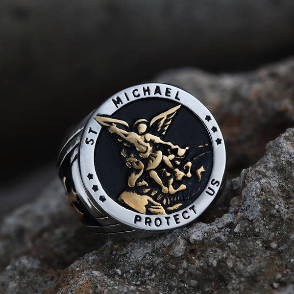 Archangle Saint Michael Stainless Steel Ring
