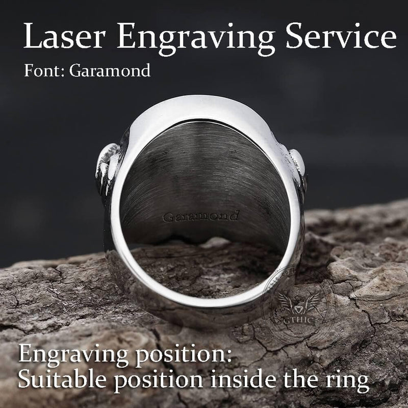 Butt Shaped Stainless Steel Ring