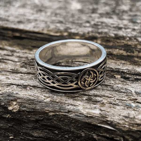 Celtic Amulet Sterling Silver Viking Ring
