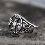 Celtics Knot Cross Stainless Steel Viking Ring
