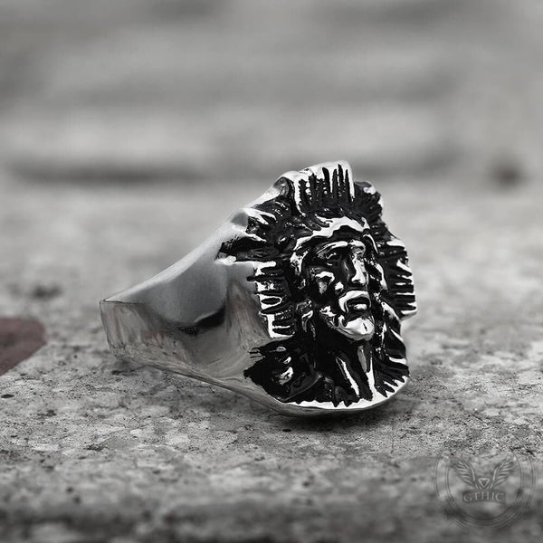 Christian Jesus Stainless Steel Ring