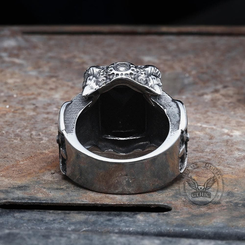 Classic Claw Stainless Steel CZ Ring
