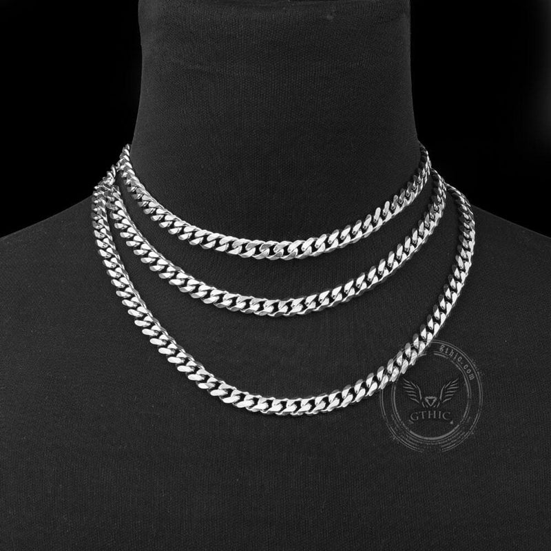 Classic Cuban Link Stainless Steel Chain Necklace