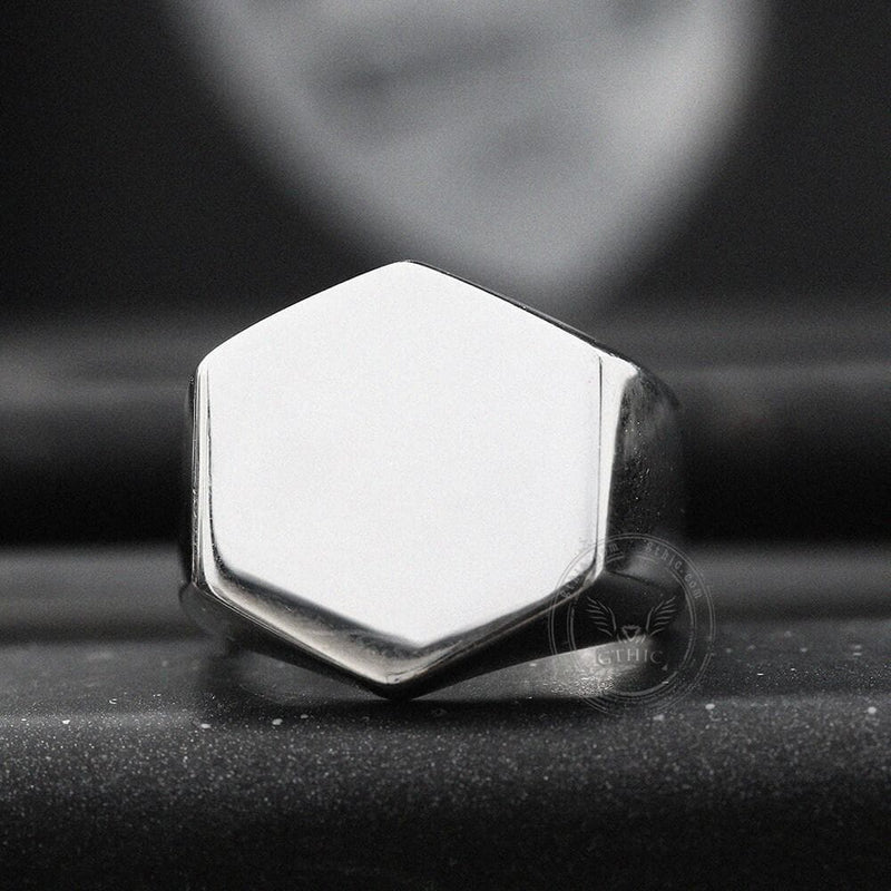 Classic Hexagon Stainless Steel Ring