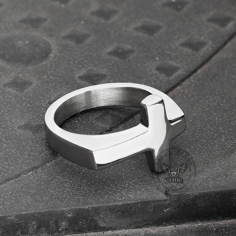 Classic Sideways Cross Stainless Steel Ring