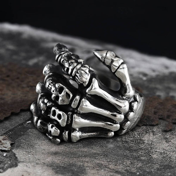 Claw Stainless Steel Skull Ring | Gthic.com