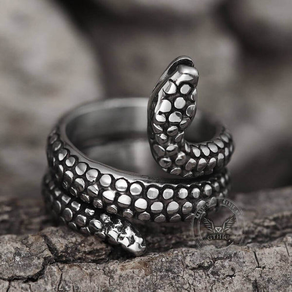 Coiled Snake Stainless Steel Ring