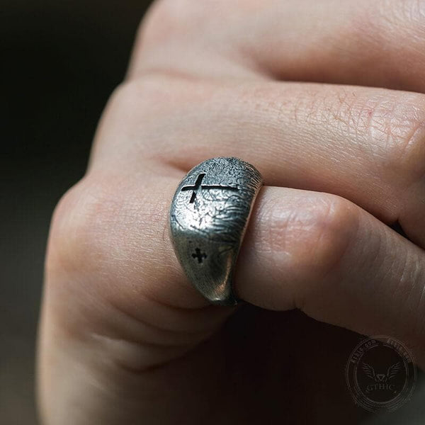 Cross Monument Stainless Steel Ring
