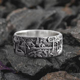 Detailed Pastoral Patterns Alloy Embossed Ring