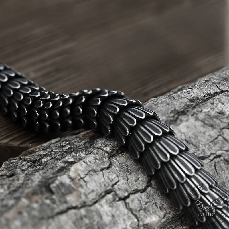Dragon Scale Stainless Steel Bracelet
