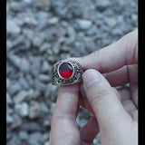 Retro United States Army Eagle Stainless Steel CZ Ring