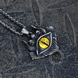 Eye of Hell Stainless Steel Skull Pendant