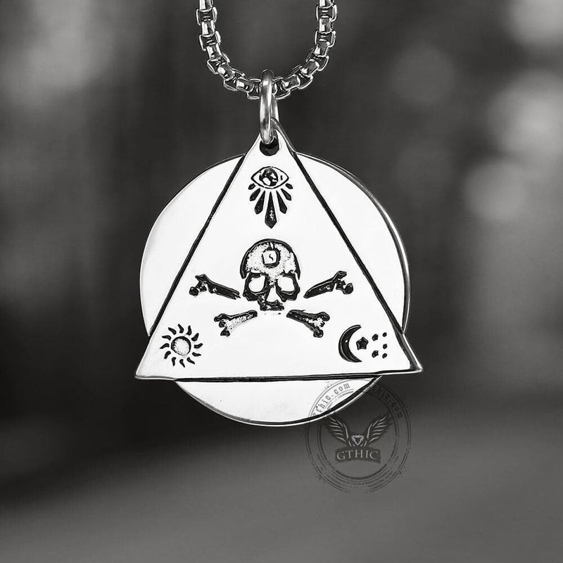 Eye of Providence Stainless Steel Masonic Pendant