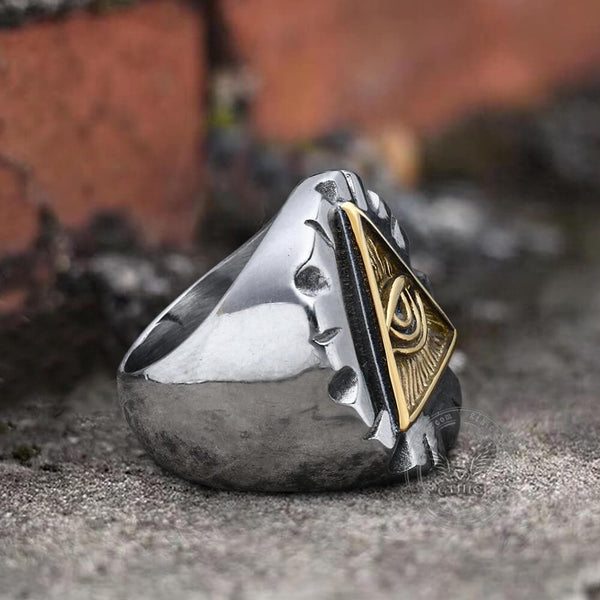 Eye Of Providence Stainless Steel Masonic Ring