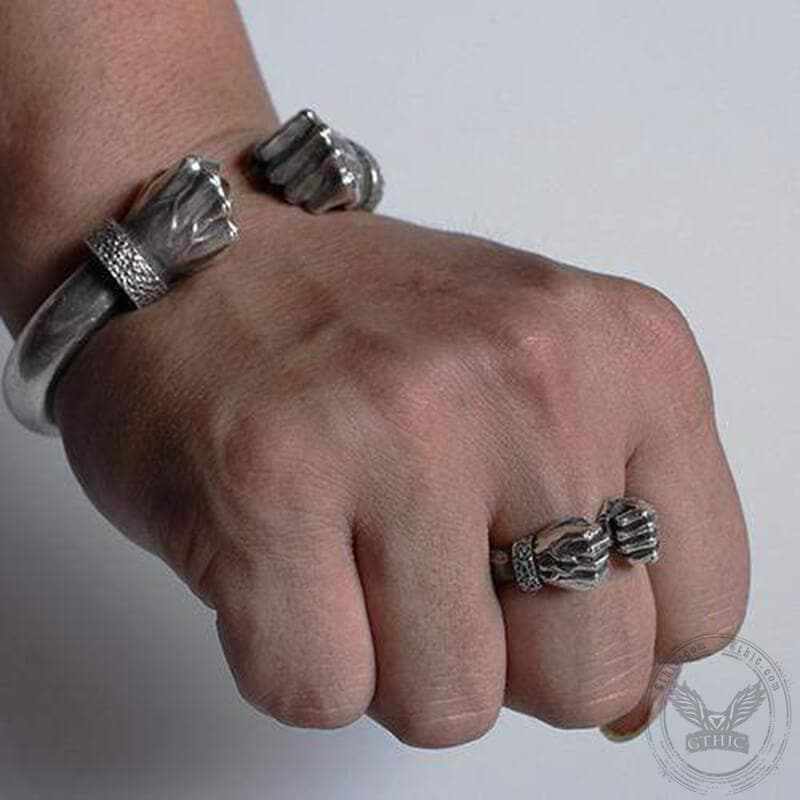 Fist of power Sterling Silver Ring
