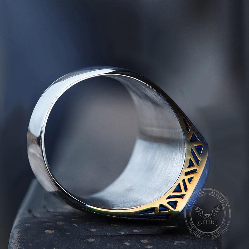 Flash Stone Stainless Steel Ring