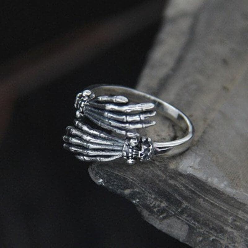 Ghost Claw Sterling Silver Skull Ring