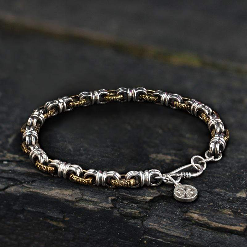 Blessed Peace Knot Sterling Silver Brass Bracelet