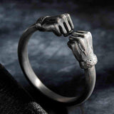 Fist of Power Sterling Silver Bracelet