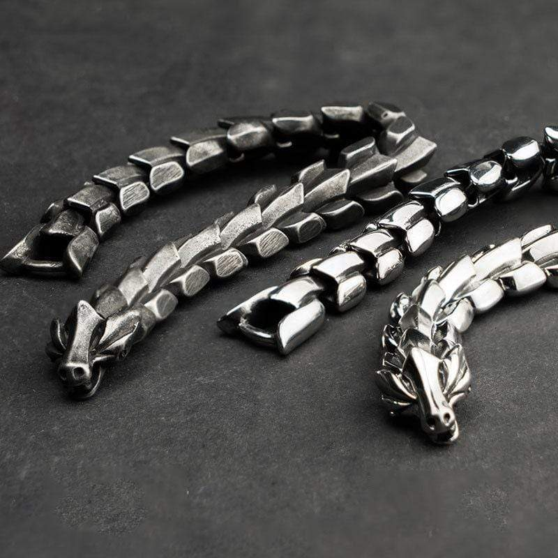 Vintage Dragon Scale Stainless Steel Bracelet