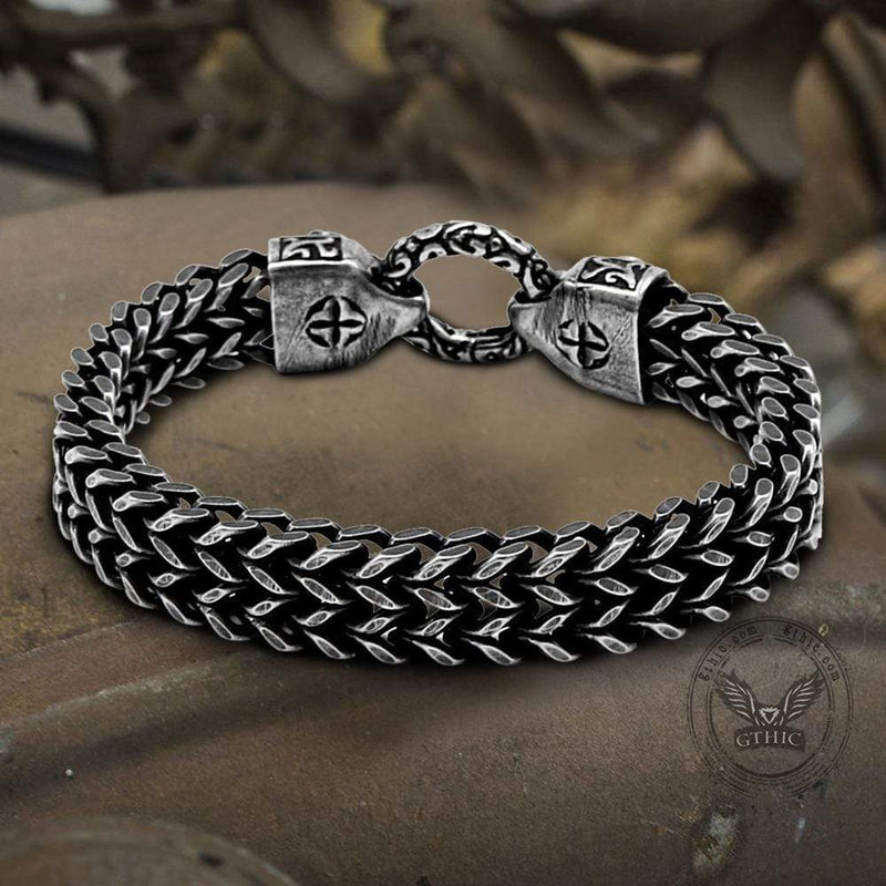 Double Ghost Head Buckle Stainless Steel Skull Bracelet