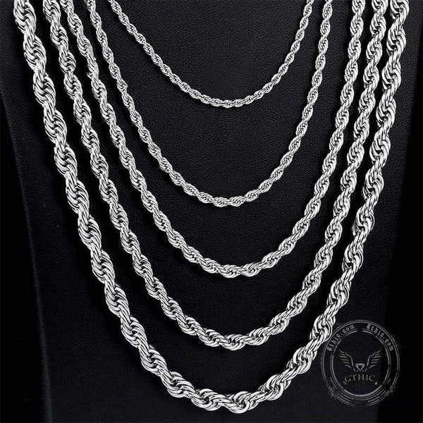 Twist Stainless Steel Chain