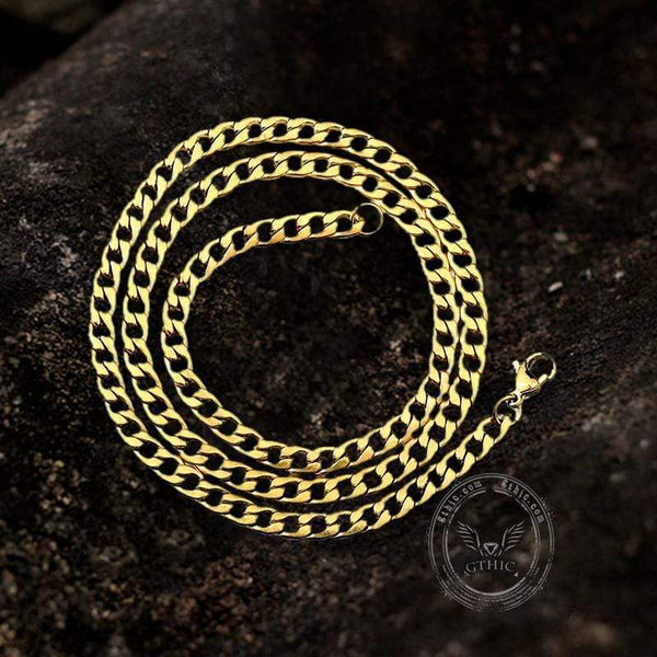 Water Ripple Stainless Steel Gold Chain