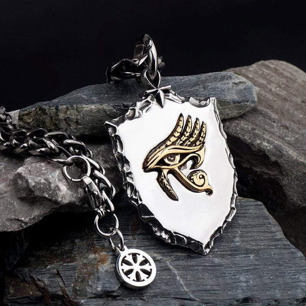 Eye of Horus Stainless Steel Mythology Pendant