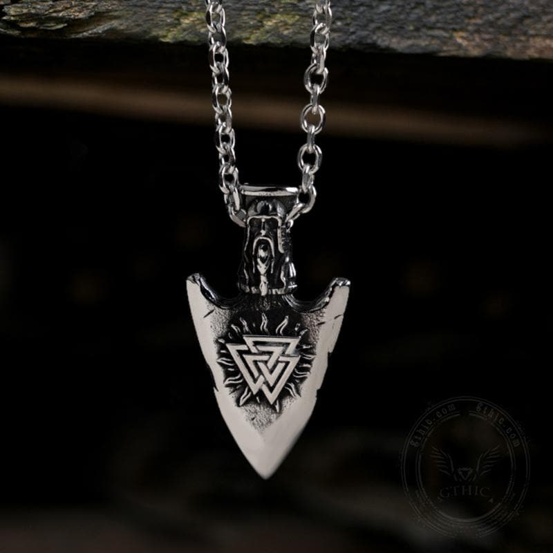 Valknut And Vegvisir Stainless Steel Viking Pendant